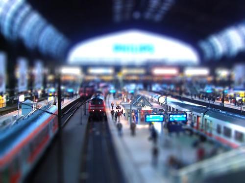 tilt-shift train