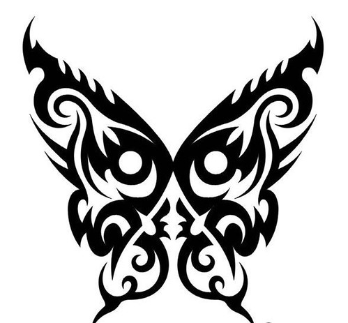 butterfly tattoos tribal butterfly