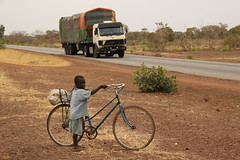 Modes of transport - truck and bicycle (Raphael Bick) Tags: africa travel burkina fao