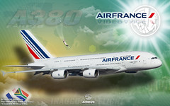 Wallpaper - A380 - Air France - Paris/Johannesburg - 1920 x 1200