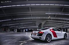 Audi R8 (Marwan AL-Marzugy) Tags: uk light red white car sport vw photoshop germany photography ride wheels performance led saudi arabia jeddah audi marwan makkah lightroom r8 ger ksa ameer lambo samaco