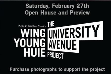 Wing Young Huie, University Avenue Project. Open House and Preview Fundraiser. via Public Art Saint Paul