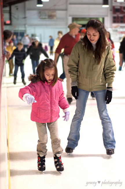 Lilli Learns to Ice Skate