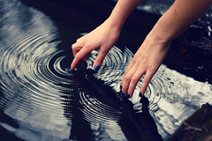 (sandy honig) Tags: blue jenna reflection water hands hand sandy fingers explore vein ripples 365 frontpage honig whisperintheforest