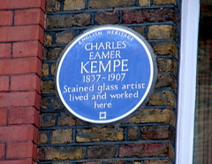 Photo of Charles Eamer Kempe blue plaque