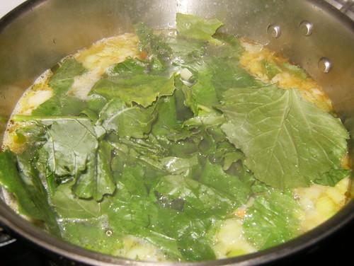 Caldo nabicol-añadfir verdura