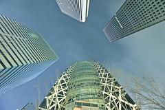 4 Towers (fernlicht) Tags: light night tokyo shinjuku darkness nightshot highrise