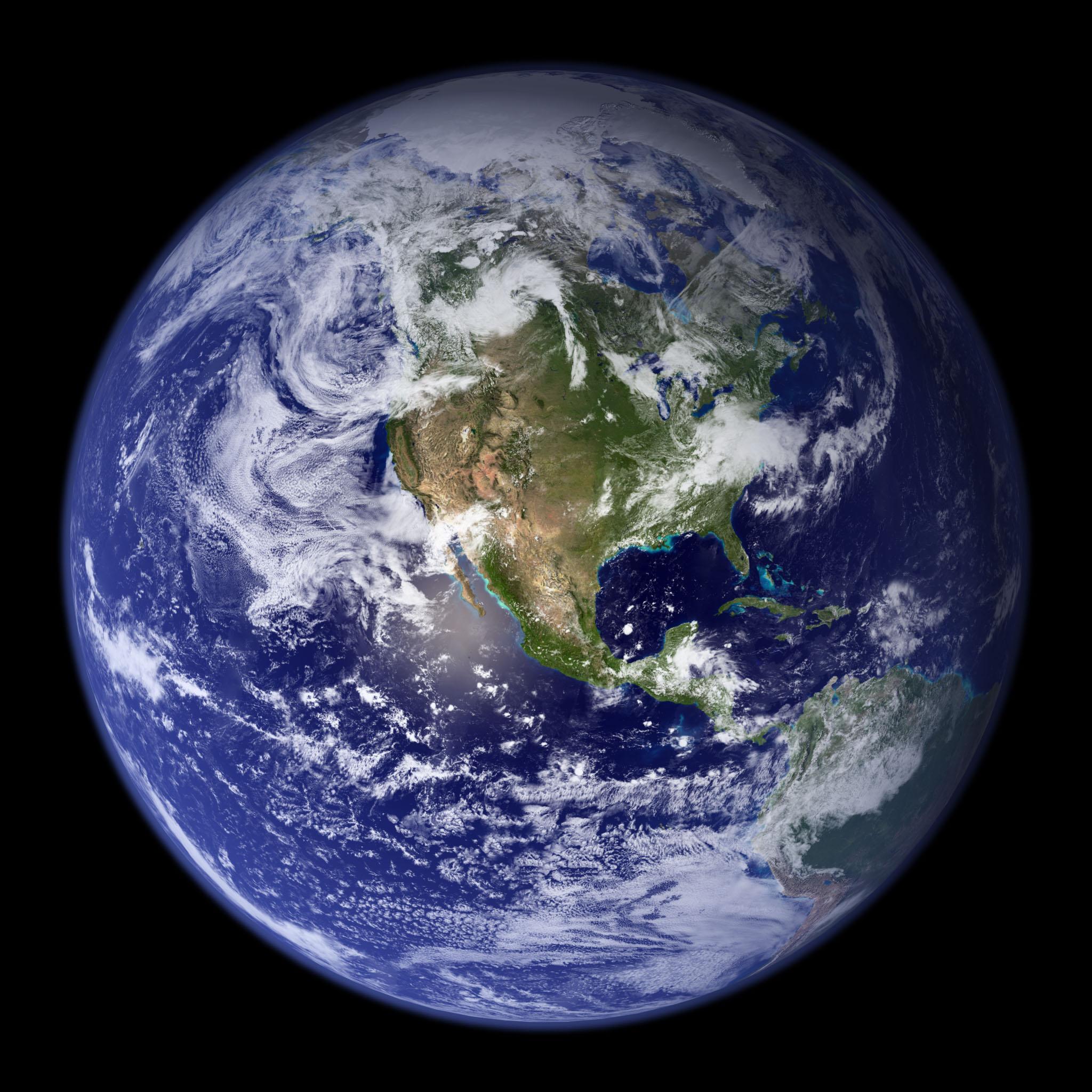 """Вид Земли со спутника в """"почти реальном времени"""" / news2.ru"""