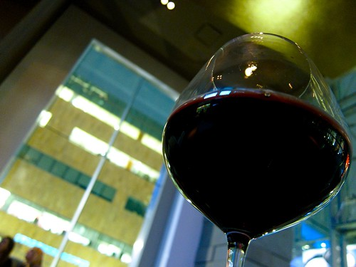 A glass of wine @ JW Marriott LA Live