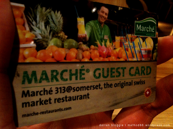 the Marche Guest Card