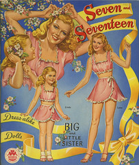 Seven and Seventeen paper doll_ft_tatteredandlost (T and L basement) Tags: toy ephemera collectible 1945 paperdoll pinup vintagepaperdoll sevenandseventeen merrillpublishingcompany bigandlittlesister mintpaperdolls