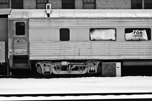 door railroad windows winter blackandwhite snow brick car sign metal wisconsin digital train cabin nikon mechanical tracks machine rusty retro airconditioner madison chrome cart ac forlease padding d90 roundedwindows