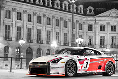 (GstarAnto) Tags: red white paris france night canon french 50mm lights nissan place swiss flag stickers photograph anthony 28 gt 18 fia gtr anto vendome munoz antho vendme gt1 40d 50150 gstaranto khariboo