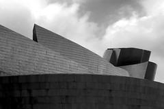 Guggenheim. Bilbao (Jose A. Bejarano) Tags: bw byn blancoynegro museum canon arquitectura bn powershot bilbao s40 guggenheim museo frankgehry ar
