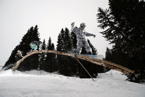 Riding the tree rail in Avoriaz (Avoriaz Tourism)