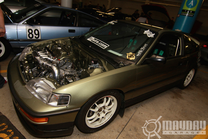 K Swapped CRX on Mugen MF-10, this car was hell clean