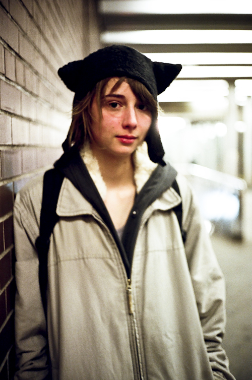 Portrait: Sally @ Coxwell Station, Toronto
