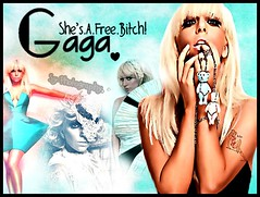 I Love This Woman! (Sylvia Germanotta; [SyLittleMonster]) Tags: face monster lady photoshop dance colours fame bad romance just poker gaga blend