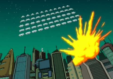 space invaders futurama