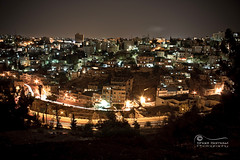 Layers of an Old City.. (SonOfJordan) Tags: old city longexposure shadow streets color night canon dark landscape eos lights hill amman jordan layers xsi 450d samawi sonofjordan wwwshadisamawicom