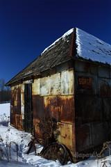 Surge (diapaulic) Tags: winter sky snow abandoned wisconsin farmhouse landscape decay shed homestead beautifuldecay omot shawanocounty
