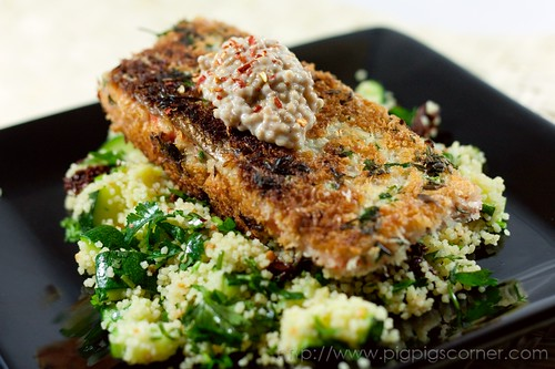 crispy herb crusted salmon