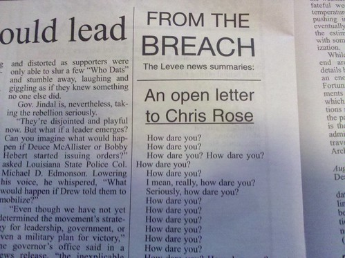 Open letter to Chris Rose