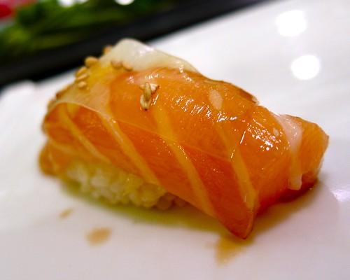 Salmon w/ White Thin Kelp at Nozomi
