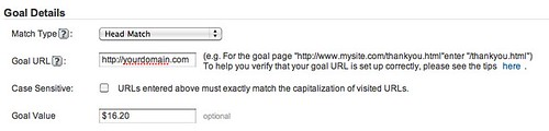 Goal Settings - Google Analytics