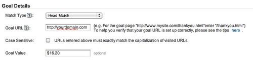 Goal Settings - Google Analytics