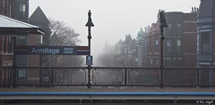Armitage Avenue in Fog (rjseg1) Tags: chicago station fog el lincolnpark armitage segal rjseg1