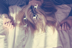 (_acido) Tags: morning light red white its vintage hair soft sister room nails fawn bambi canoneos450d