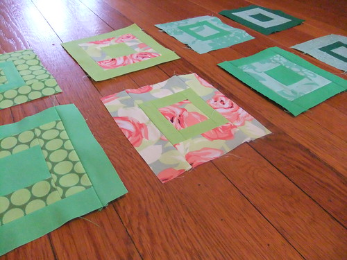 Paintbox quilt a long greens