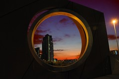 Threshold to the ends of the Earth (Tony Shertila) Tags: europe britain england merseyside liverpool oldhallstreet thresholdtotheendsoftheearth sunset window view urban city beethamtower ohhh platinumheartaward weather night cloudy