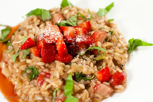 strawberry risotto with balsamic vinegar 8