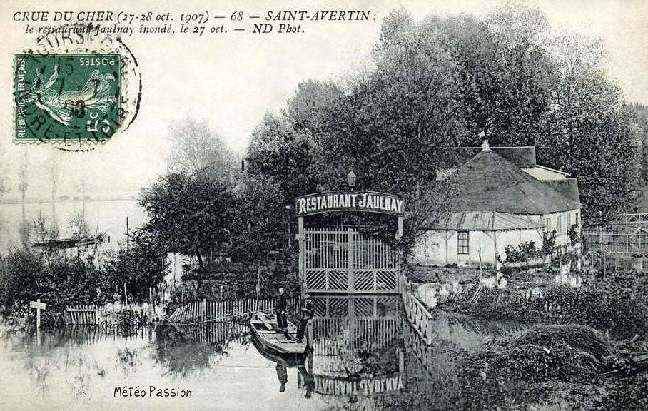 crue du Cher à Saint Avertin le 27 octobre 1907