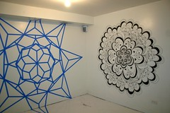 Mandalas by Nelson Kahikina (fotoflow / Oscar Arriola) Tags: show chicago art wall inn artist gallery drawing nelson mandala exhibition galleries tape believe artists installation shows mandalas kahikina