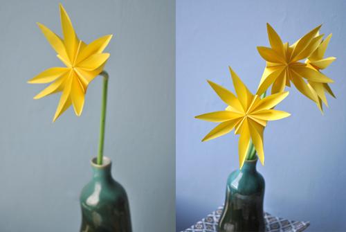 Wiosenne kwiaty z papieru (origami)