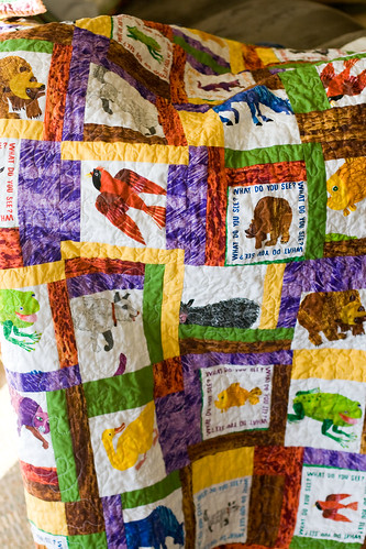 brown bear, brown bear quilt