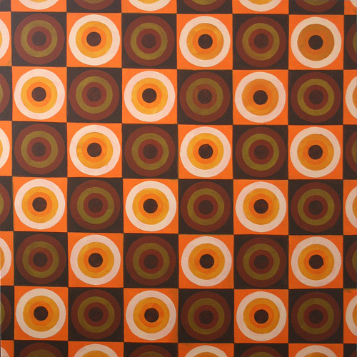 Brown Pattern, Acrylic & Oil on Canvas, 31cm x 31cm by Robin Clare