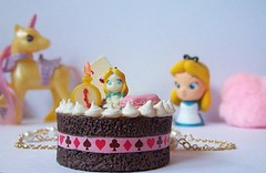 Alice in Wonderland collection Royal Cake necklace (Megami-San) Tags: pink food game cute girl japan shop fairytale vintage hair fur fun toy gold mirror necklace kid yummy kei heart cheshire alice girly feminine pastel hellokitty brooch rich nintendo cartoon manga adorable kitsch jewelry fairy clay 80s bow poodle donut kawaii online ribbon pearl accessories earrings colourful chic boombox snowwhite childish purikura mignon pompom shabby gyaru puricute