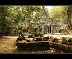 the entrance....... (atsjebosma) Tags: trees history temple bomen ancient asia cambodia entrance explore angkor taprohm unescoworldheritage ingang tempel cambodja azi siemriep siemreab atsjebosma