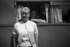 Image titled Sister's pal Margaret and her mum peeking out window