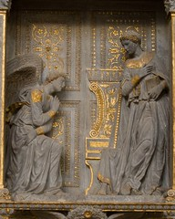 Annunciation by Donatello at Santa Croce