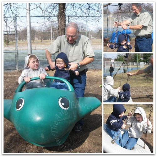 Fun with Papa at the park