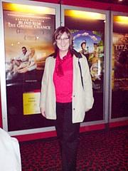 Michaela nach der Kinovorführung