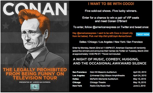 Conan O'Brien Launches Twitter Contest With American Express - 4454400547 98C862673F 1