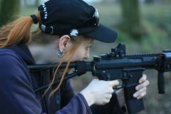 Truce with gun, taken by Magi [ http://www.magifesn.cz/ ] (overdrive_cz) Tags: girl gun guns truce