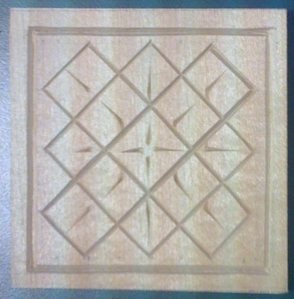 Another basic coaster pattern. I use the straight lines to practice my ...
