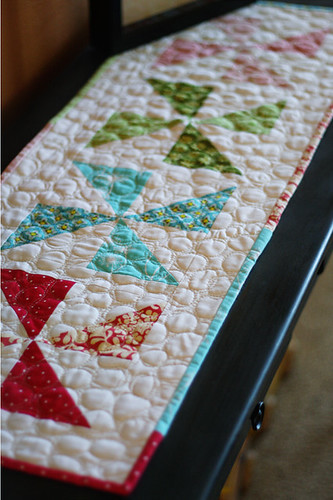 Modern Spring Table Runner